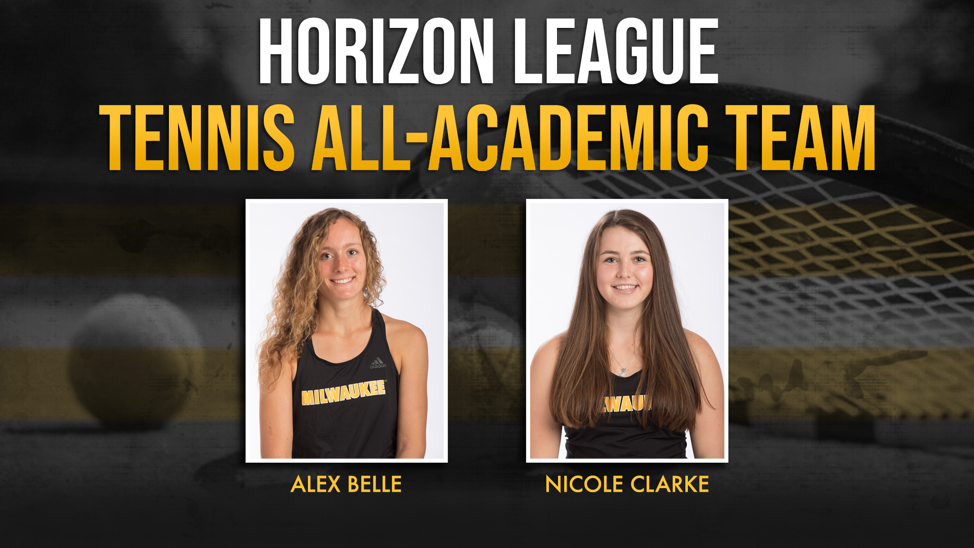Belle and Clarke Named to League All-Academic Team