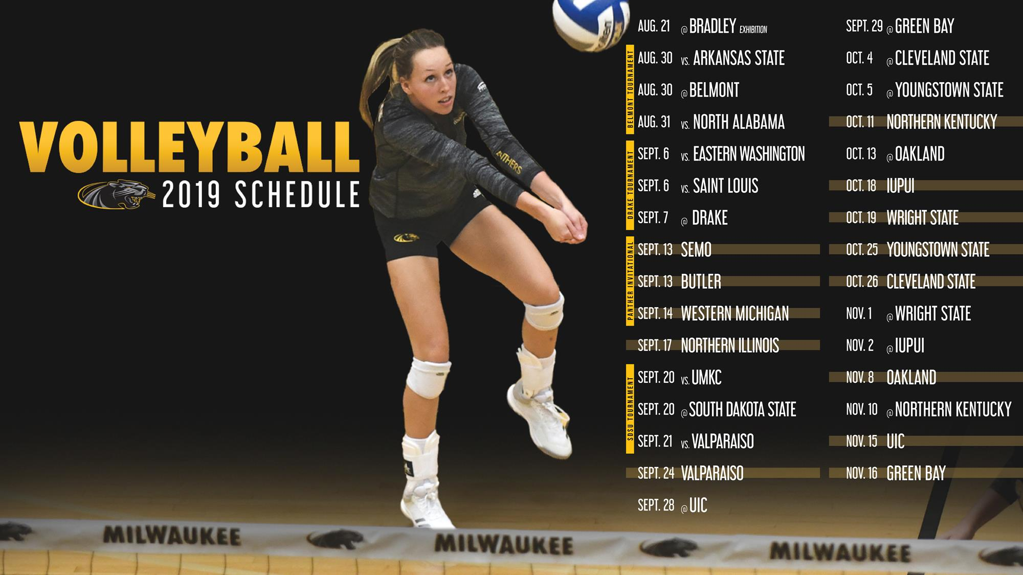 Mke Volleyball Announces 2019 Schedule Milwaukee Athletics