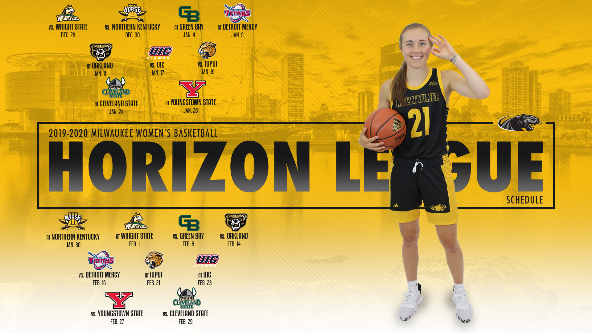 2019 20 Horizon League Schedule Finalized Milwaukee Athletics